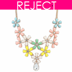 RD0116- Reject Design RD0116- Choker Necklace colourful flowers