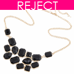 RD0220 Reject Design - Black beads choker necklace shop