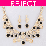 RD0436- Reject Design RD0436-Choker and earrings Set
